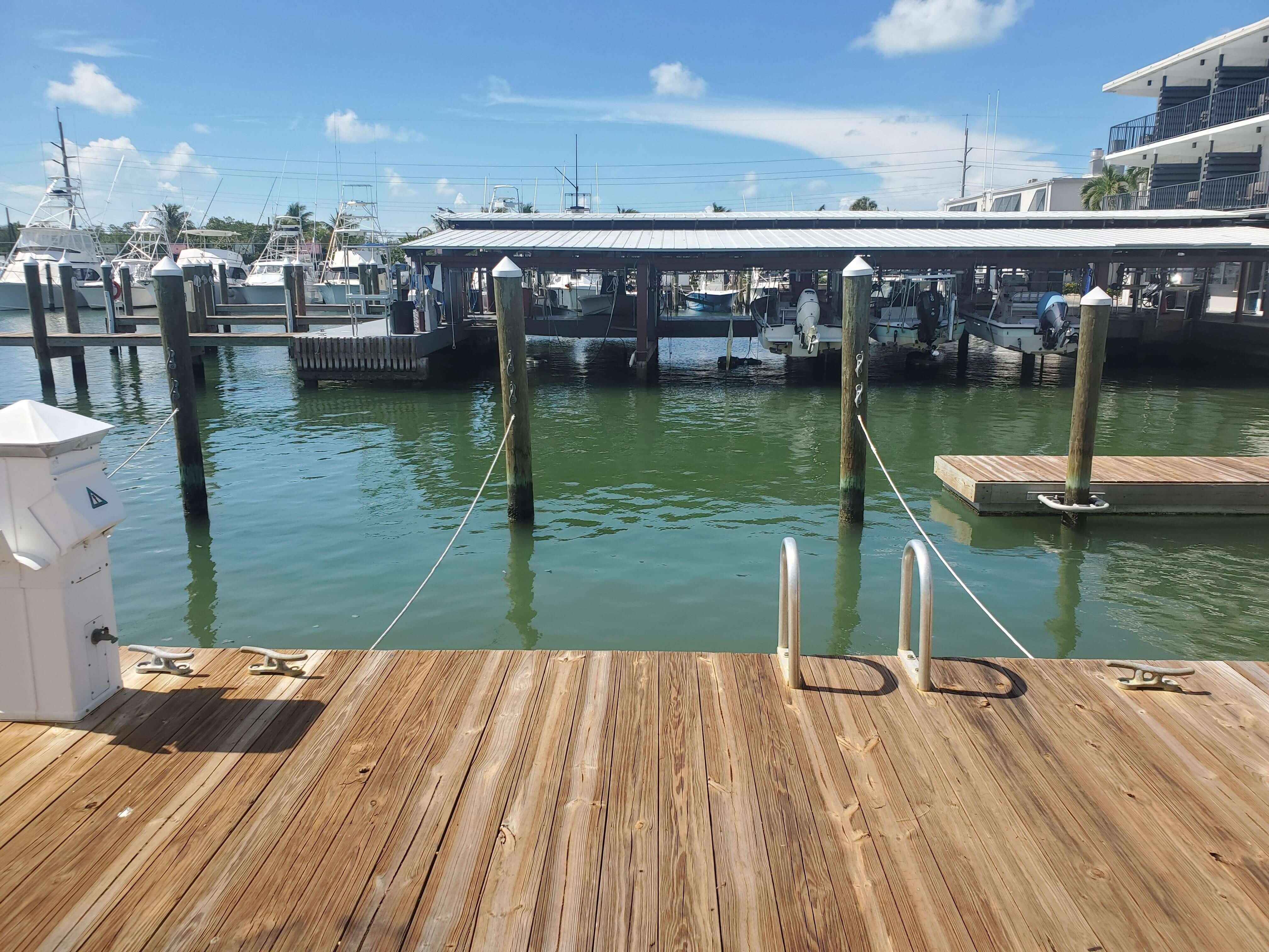 dock with water view